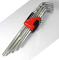 Набор ключей 6-гр. (HEX) Г-обр. с шаром длинных 10 пр. (1.27-10 мм) 5102LB