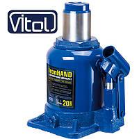 Домкрат бутылочный 20 т Vitol ДБ-20002H