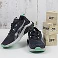 Женские спортивные кроссовки замшевые черные BaaS модель L1611-2 размер 36 - 41 р, фото 2