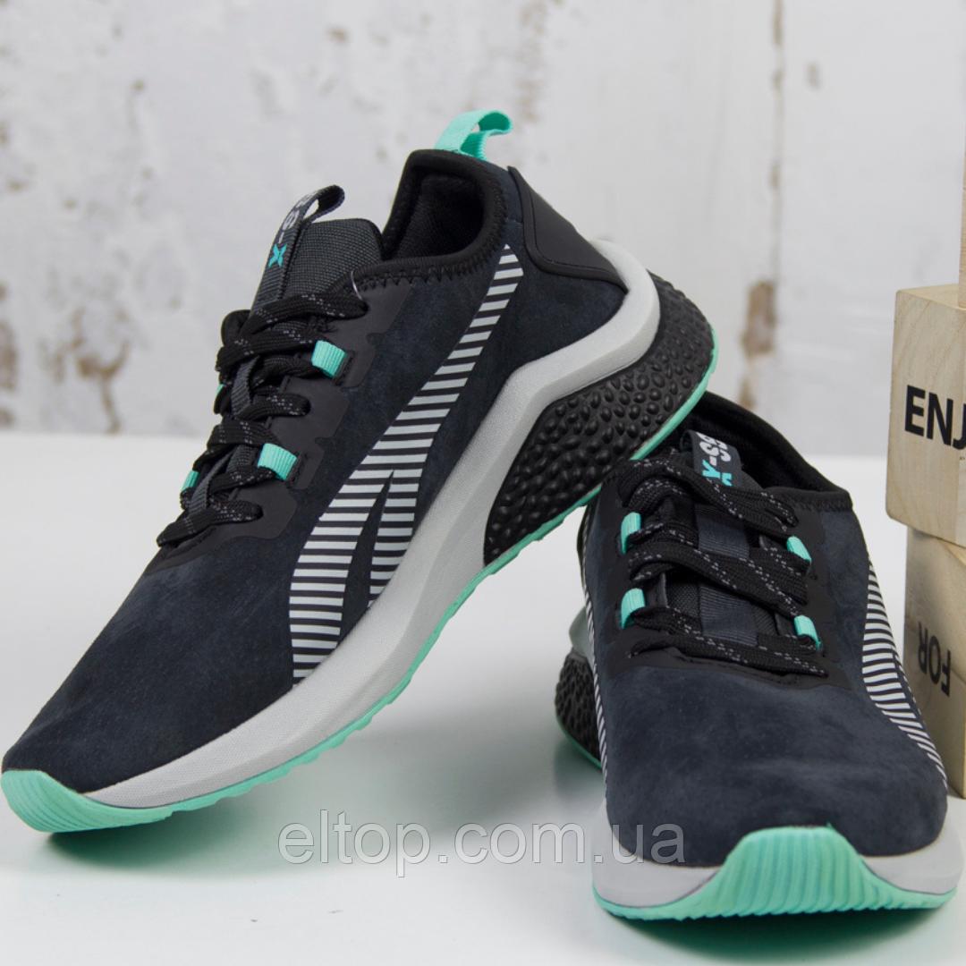 Женские спортивные кроссовки замшевые черные BaaS модель L1611-2 размер 36 - 41 р