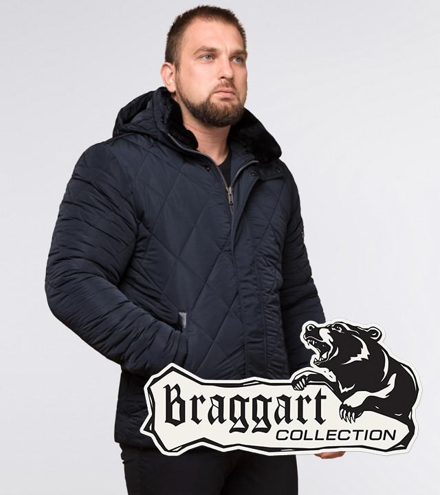 Короткая зимняя куртка темно-синяя | Braggart Dress Code 19121