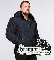 Короткая зимняя куртка темно-синяя | Braggart Dress Code 19121, фото 1