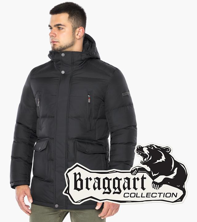 Мужская зимняя куртка цвета графит   Braggart Dress Code 57010