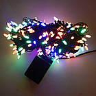 Гирлянда нить светодиодная Конус 100 LED, Мультицветная, черный провод, 6м., фото 3
