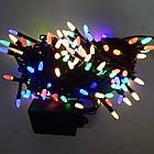 Гирлянда нить светодиодная Конус 100 LED, Мультицветная, черный провод, 6м., фото 6