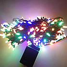 Гирлянда нить светодиодная Конус 100 LED, Мультицветная, черный провод, 6м., фото 4