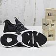 Повседневные мужские кроссовки черные BaaS модель M7033-2 размер 41-46, фото 6