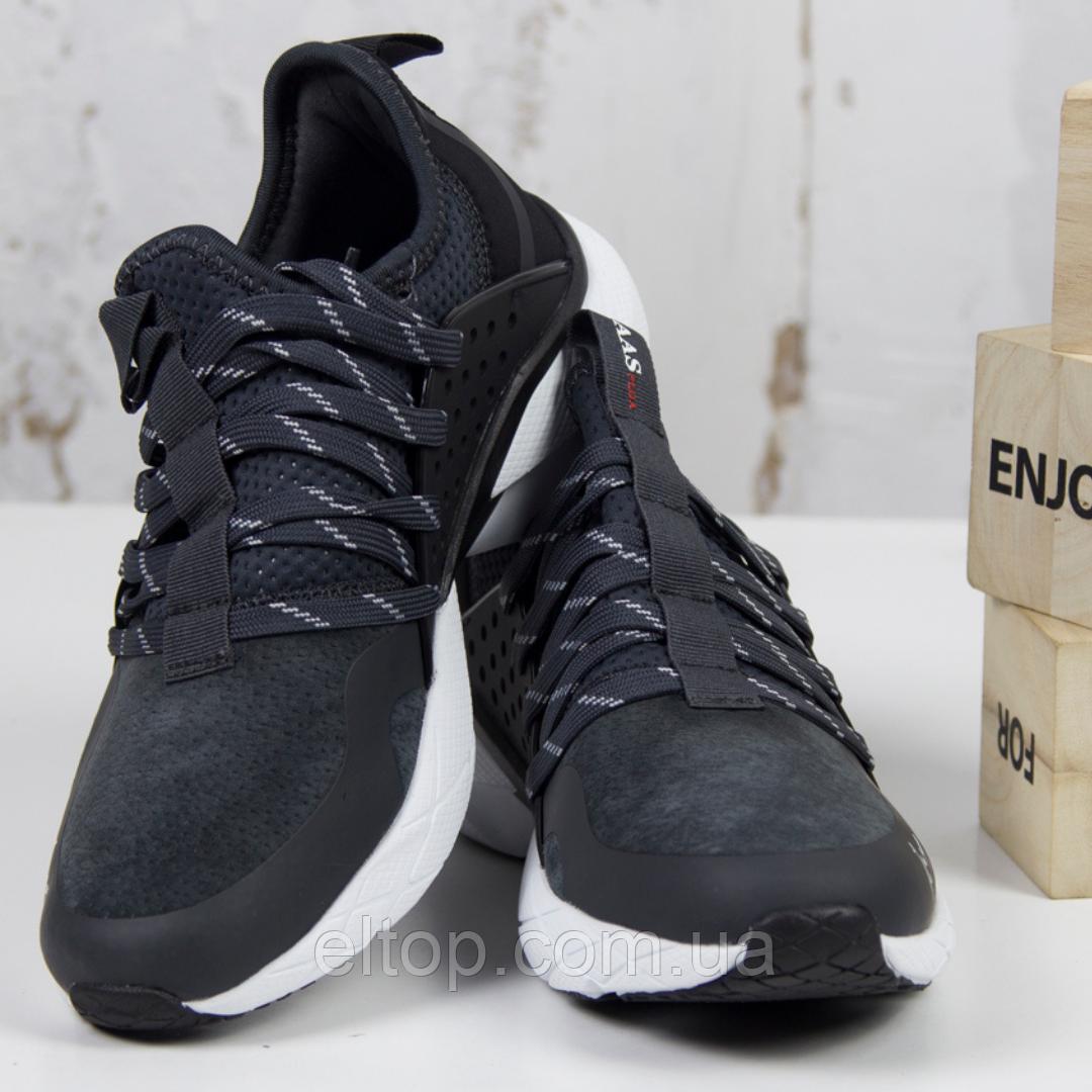 Повседневные мужские кроссовки черные BaaS модель M7033-2 размер 41-46
