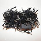 Гирлянда нить светодиодная Конус  200 LED, Голубая, черный провод, 10м., фото 6