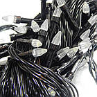 Гирлянда нить светодиодная Конус  200 LED, Голубая, черный провод, 10м., фото 7