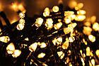 Гирлянда нить светодиодная Конус 200 LED, Золотая (Желтая), черный провод, 10м., фото 2