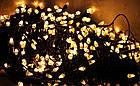 Гирлянда нить светодиодная Конус 200 LED, Золотая (Желтая), черный провод, 10м., фото 5