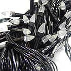 Гирлянда нить светодиодная Конус 200 LED, Золотая (Желтая), черный провод, 10м., фото 8