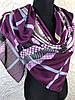 Женский хлопковый платок в клетку с зигзагом