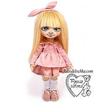 Кукла ручной работы с лицом, съемная одежда, рост 30см