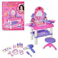 Трюмо для девочки, детское трюмо со стульчиком 0395, туалетный столик детский 11/18.5