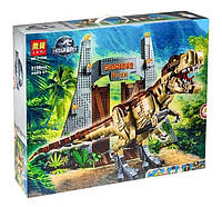 """Детский конструктор с динозавром Lari 11338 """"Мир Юрского периода: Ярость Ти-Рекса"""""""
