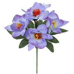 Искусственные цветы букет крокусы, 21см(60 шт. в уп)