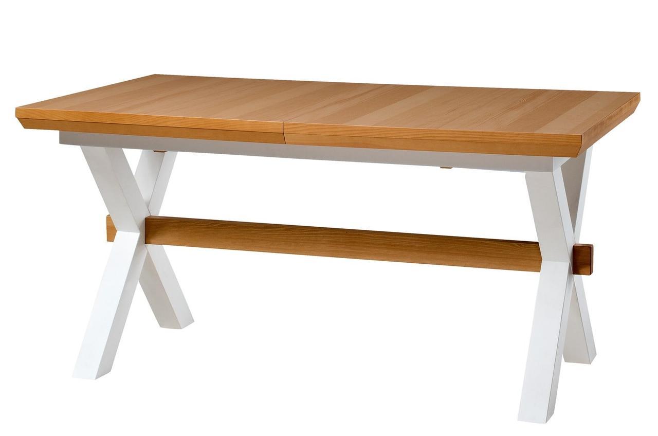 Стол обеденный деревянный AVIGNON 39 Szynaka белый/сосна рустикал
