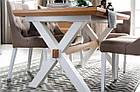 Стол обеденный деревянный AVIGNON 39 Szynaka белый/сосна рустикал, фото 7