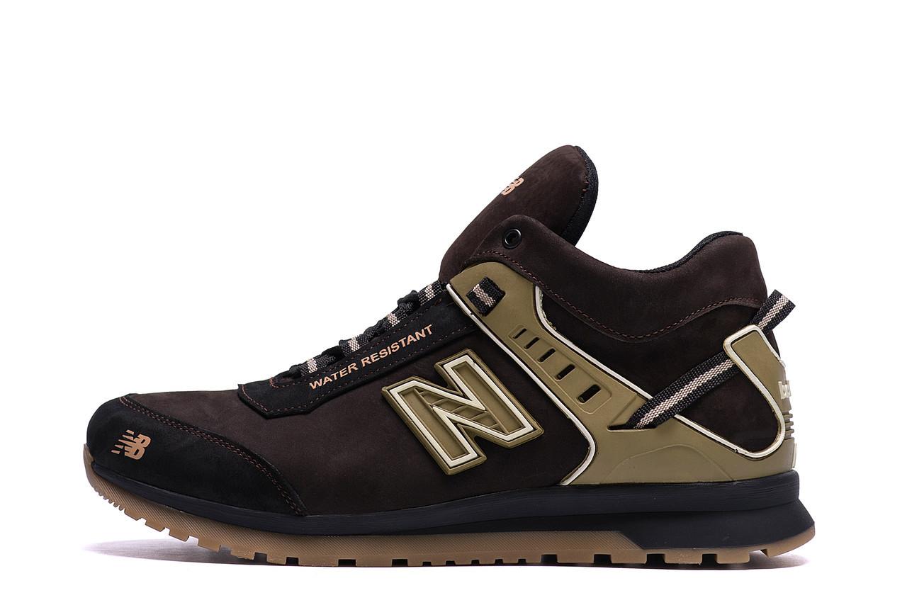 Мужские зимние кожаные кроссовки NB Clasic Brown р. 40  44 45