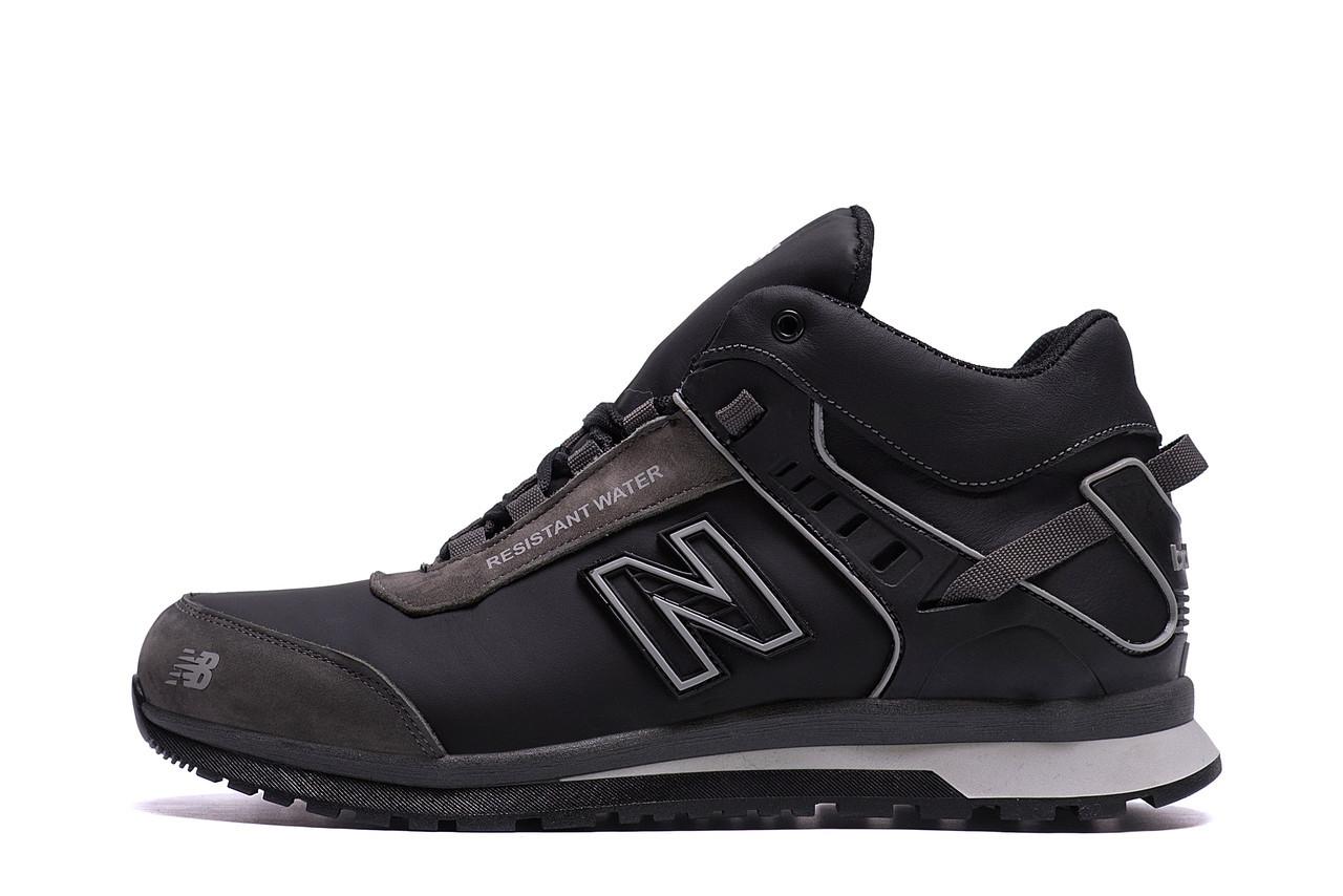 Мужские зимние кожаные кроссовки NB Clasic Black р. 40 41 44 45