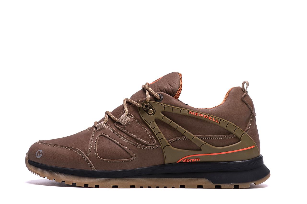 Мужские зимние кожаные кроссовки MERRELL vlbram Olive р. 40 41 42 43 44 45