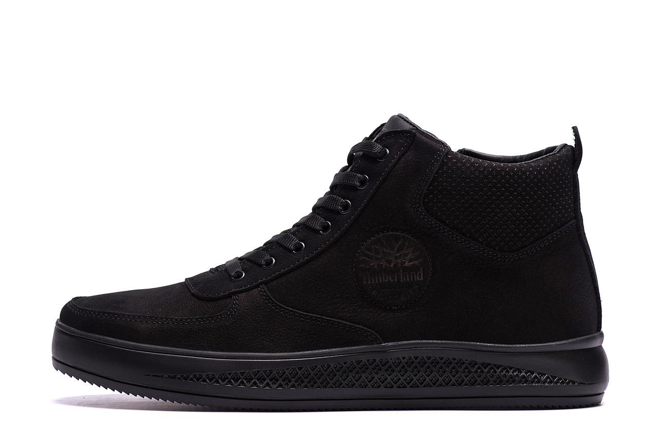 Мужские зимние кожаные ботинки Timberland  Black р. 41  45