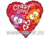 Поющий шар «Crazy Love», надутый гелием.