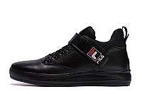 Чоловічі зимові шкіряні черевики FILA Black р., фото 1