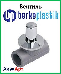 Berke Plastik ппр вентиль з хромованою ручкою 20 мм