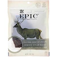 ОРИГИНАЛ!Мясные снеки Epic Bar,Нежный стейк из оленины,оригинальный рецепт охотника,71 грамм производства США