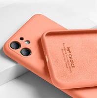 Силиконовый чехол Liquid Silicone Case Apple iPhone 11