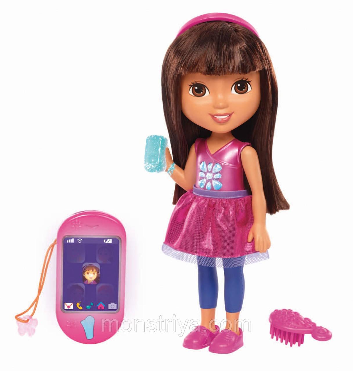 Интерактивная кукла Даша Dora путешественница и смартфон Fisher-Price Nickelodeon
