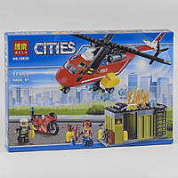 Конструктор BELA 10829 ГОРОД -  Пожарный вертолет (274 дет.)