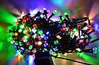 Гирлянда нить светодиодная Кристалл 400 LED, Мультицветная, черный провод, 16м., фото 2