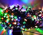 Гирлянда нить светодиодная Кристалл 400 LED, Мультицветная, черный провод, 16м., фото 3