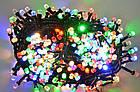 Гирлянда нить светодиодная Кристалл 400 LED, Мультицветная, черный провод, 16м., фото 5