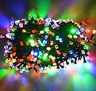 Гирлянда нить светодиодная Кристалл 400 LED, Мультицветная, черный провод, 16м., фото 6