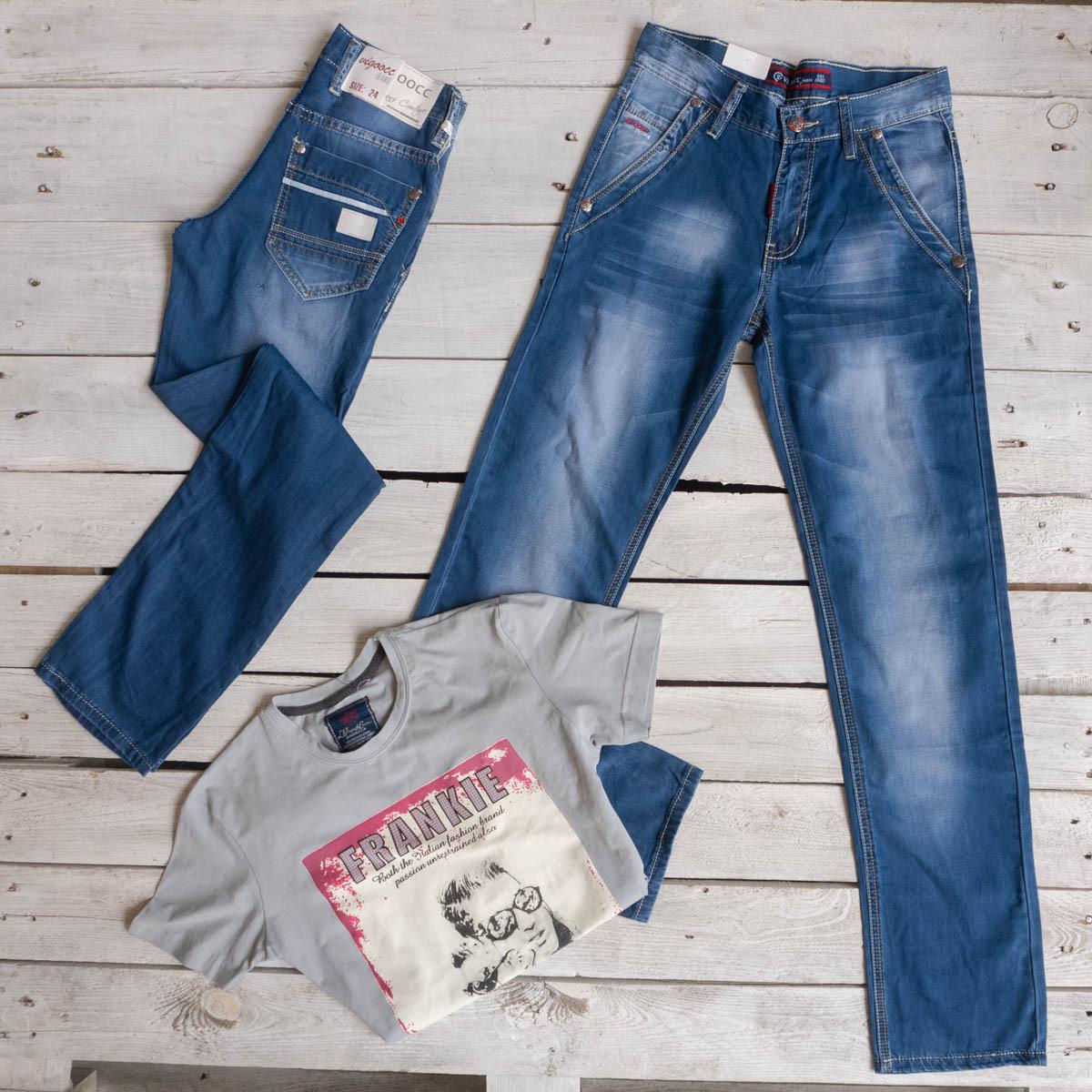 3364 Vigoocc джинсы на мальчика синие стрейчевые (24-30, 7 ед.)