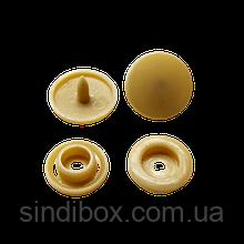 Кнопки пластикові кольорові для дитячого одягу і постільної білизни Т5 Ø 11,7 мм Бежеві (10 компл.)