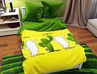 Семейный набор хлопкового постельного белья из Бязи Gold №157264AB Черешенка (BC4G157264AB)