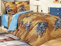 Подростковое постельное белье Квадроцикл, бязь белорусская 100%хлопок -полуторный комплект