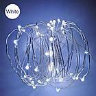 Гирлянда нить светодиодная Капли Росы 100 LED, Белая, проволока, на батарейках, 10м., фото 7