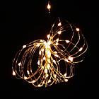 Гирлянда нить светодиодная Капли Росы 20 LED, Золотая (Желтая), проволока, на батарейках, 2м., фото 8
