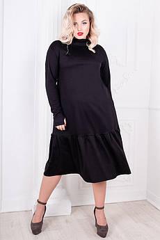 Черное платье большого размера Лиана