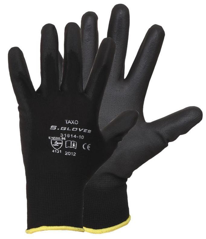 Перчатки облиты полиуретаном