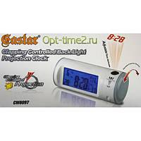 Часы с проектором и сенсорным датчиком  включения подсветки CW8097, настольные часы, проэкторы, светотехника