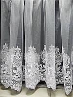 Тюль сетка вышивка