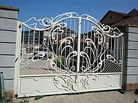 """Кованые ворота прозрачные. Эксклюзивная ручная ковка. Покраска супер качественной эмалью """"Alpina""""."""